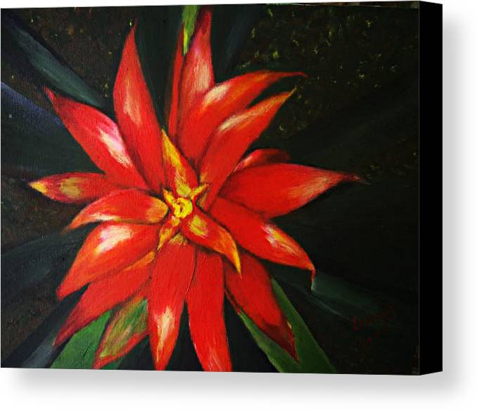 Floral Canvas Print featuring the painting Orange Blossom by Julie Lamons