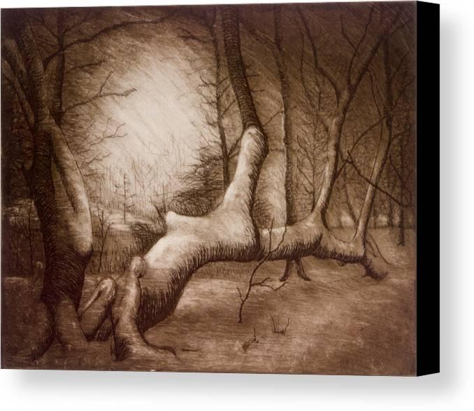 Otsiningo Park Canvas Print featuring the painting Otsiningo Park Binghamton Ny by John Clum