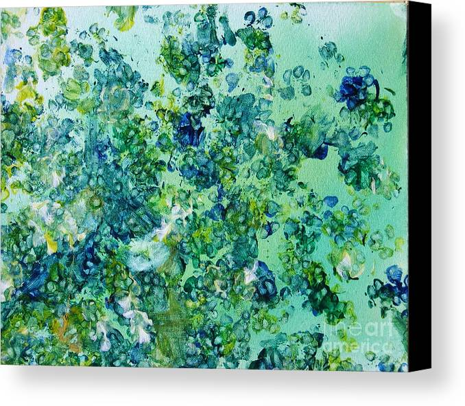 Grass Canvas Print featuring the painting Playing In The Park by Lian Xin Art