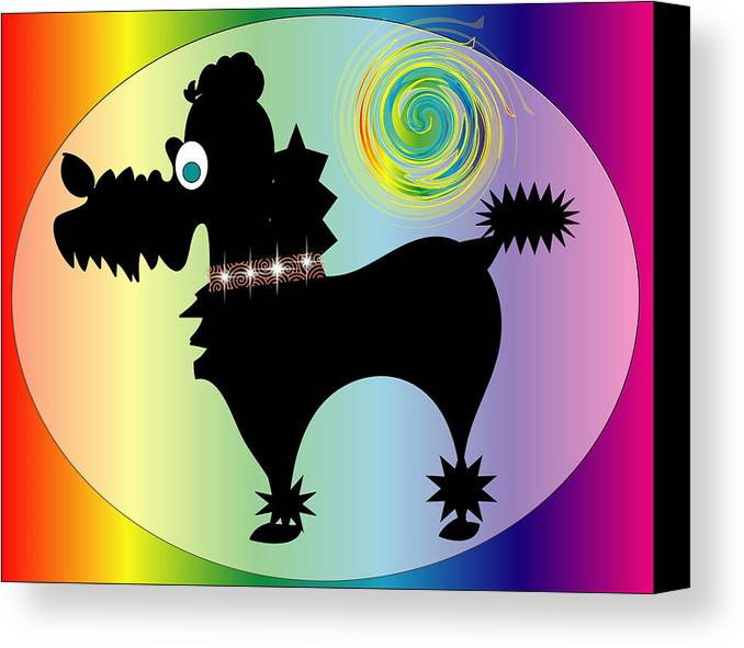 Animals Canvas Print featuring the digital art Poodle by George Pasini