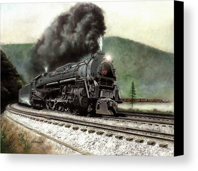 Canvas Print featuring the painting Power On The Curve by David Mittner