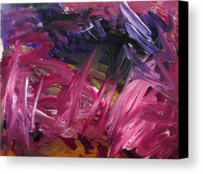 Abstract Canvas Print featuring the painting Purple Power by Kitty Hansen