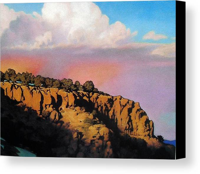 Landscape Canvas Print featuring the painting Purple Rain by Kevin Lawrence Leveque