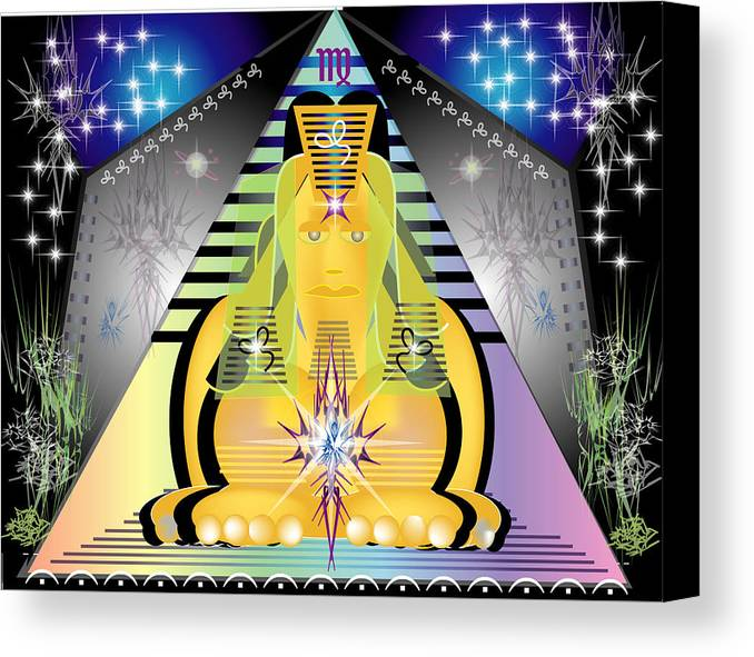 Egypt Canvas Print featuring the digital art Pyramid2 by George Pasini