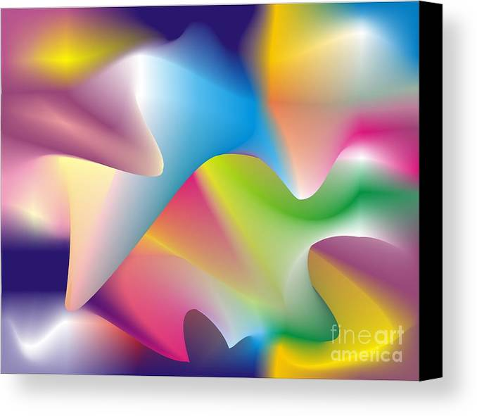 Abstract Canvas Print featuring the digital art Quantum Landscape 2 by Walter Oliver Neal