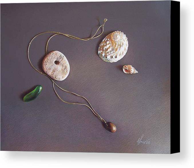Still Life Canvas Print featuring the drawing Remembering Last Summer... by Elena Kolotusha