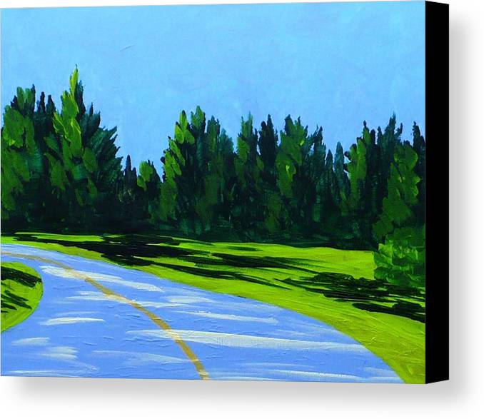 Landscape Canvas Print featuring the painting Road To Uma by Laurie Breton