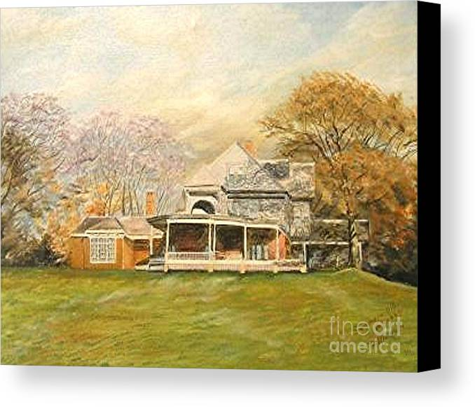 Landscape Painting Sagamore Hill. Canvas Print featuring the painting Sagamore Hill by Nicholas Minniti