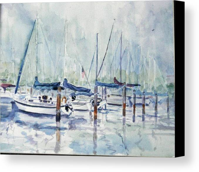 Marina Canvas Print featuring the painting September Mourning by Ruth Mabee