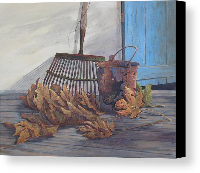 Nostolgia Canvas Print featuring the painting September Song by Don Trout