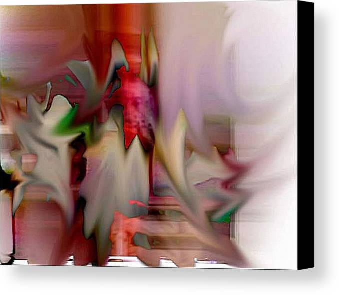 Abstract Canvas Print featuring the digital art Shake by Dave Kwinter