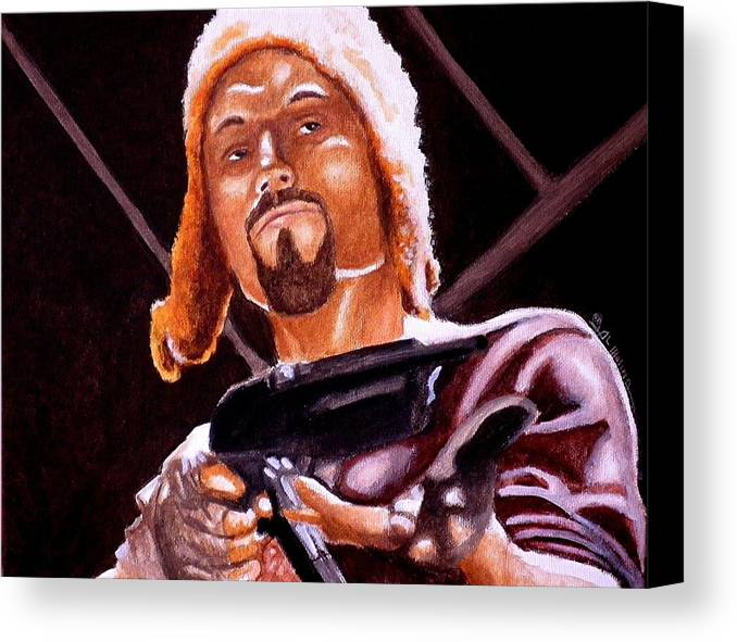 Firefly Canvas Print featuring the painting Shiny Lets Be Bad Guys by Al Molina