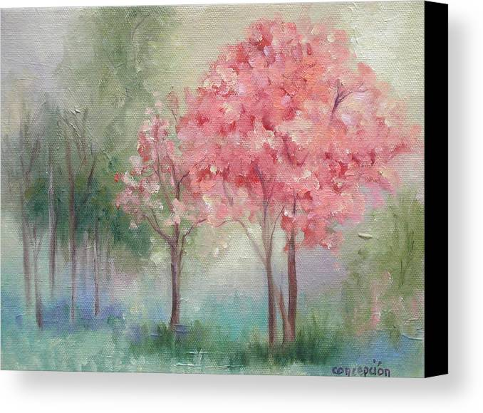 Spring Canvas Print featuring the painting Sign Of Spring by Ginger Concepcion
