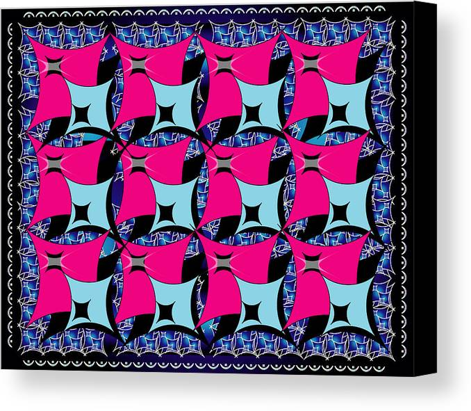 Abstract Canvas Print featuring the digital art Squares10 by George Pasini