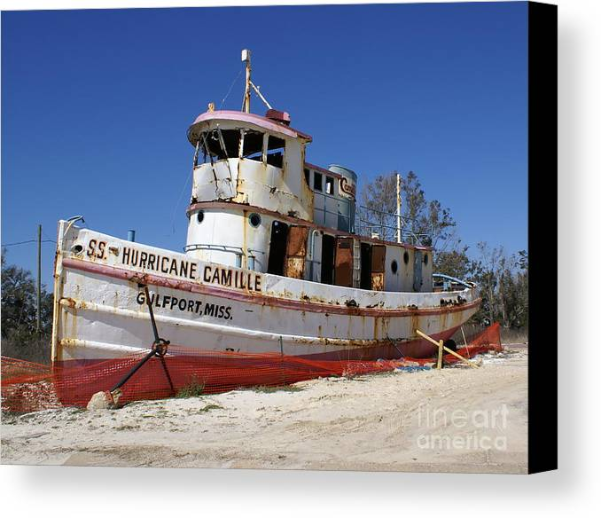 Ship Canvas Print featuring the photograph S.s. Hurricane Camille by Debbie May