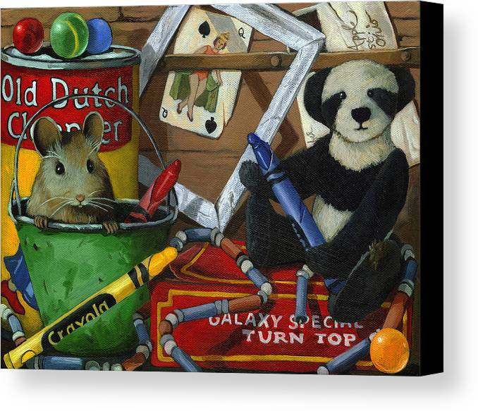 Still Life Artwork Canvas Print featuring the painting Still Life - Galaxy Special by Linda Apple