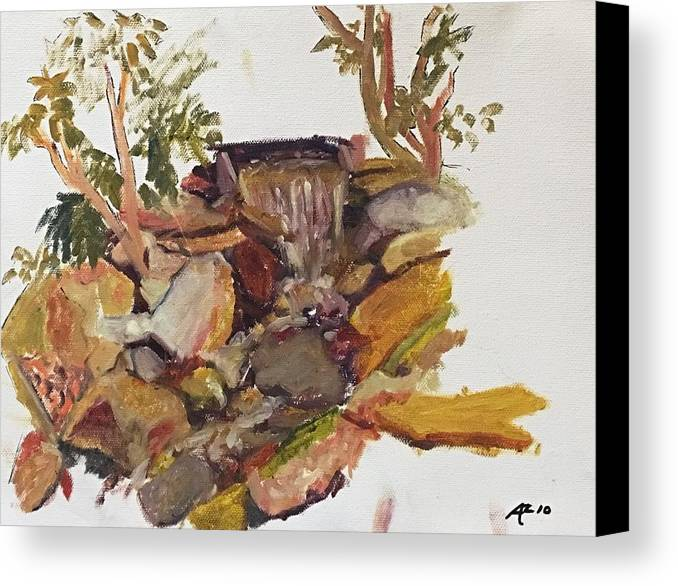 Canvas Print featuring the painting Stream by Alejandro Lopez-Tasso