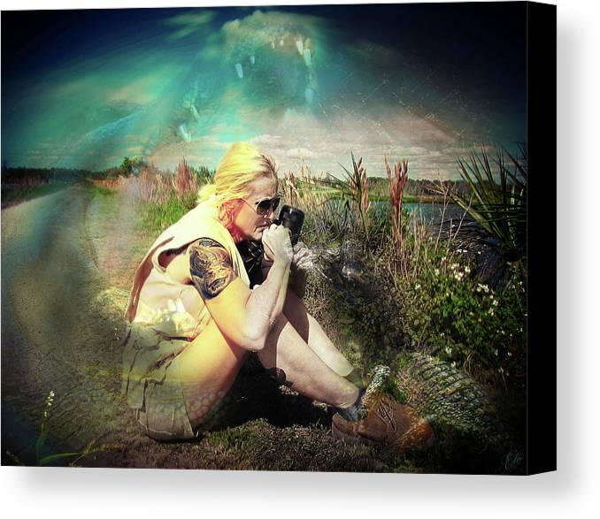 American Alligator Canvas Print featuring the photograph Such Good Crazy by Elie Wolf