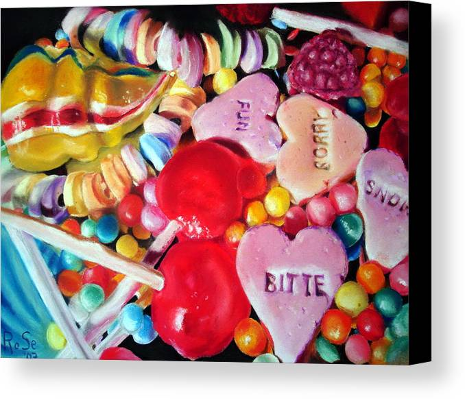 Soft Pastels Canvas Print featuring the painting Sweets For My Sweet by Rose Sciberras