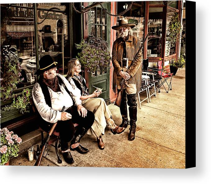 Photograph Canvas Print featuring the photograph Taking A Break by Al Mueller