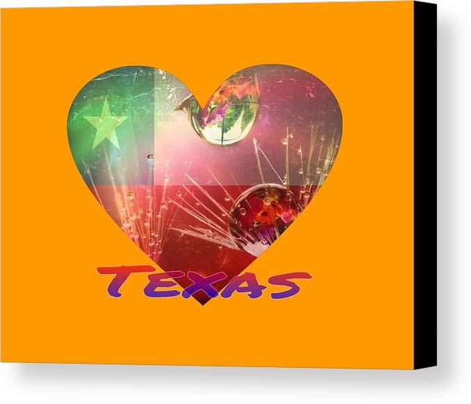 Texas T-shirt Canvas Print featuring the painting Texas by Robert Clark