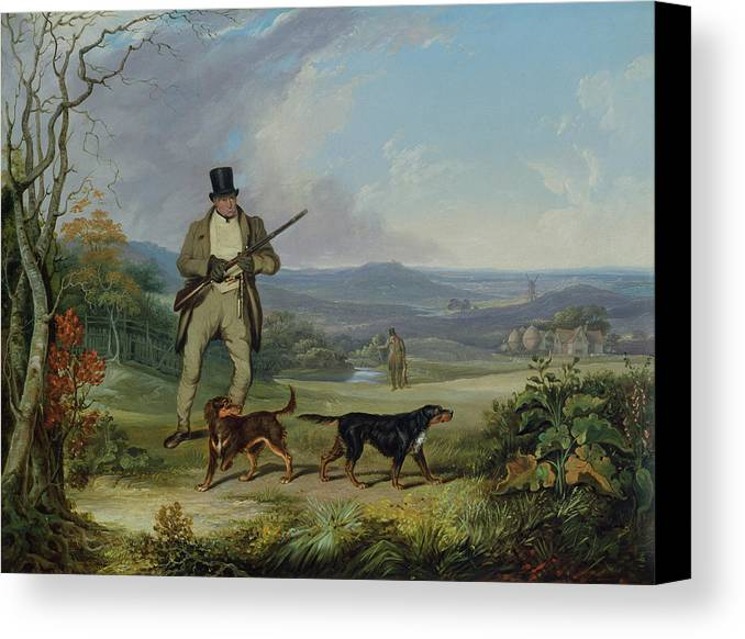 The Canvas Print featuring the painting The Afternoon Shoot  by Philip Reinagle