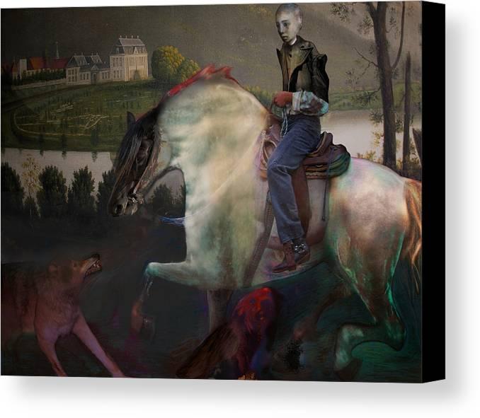 Dream Canvas Print featuring the digital art The Dream 1 by Henriette Tuer lund