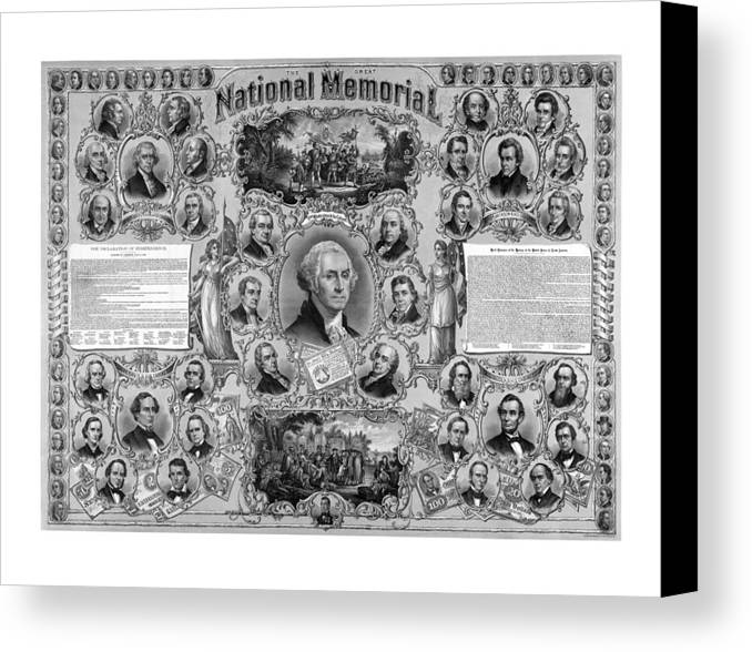 American History Canvas Print featuring the mixed media The Great National Memorial by War Is Hell Store