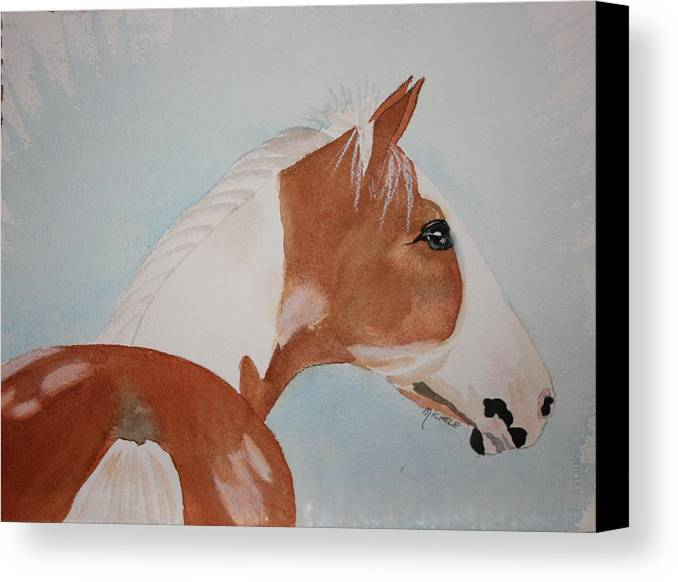 Horse Canvas Print featuring the painting The Paint by Michele Turney