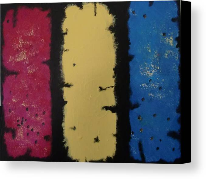 Acrylic Canvas Print featuring the painting Three Amigos by Gousalya Siva