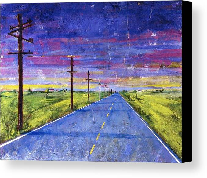 Road Canvas Print featuring the painting To Be With You by Rollin Kocsis