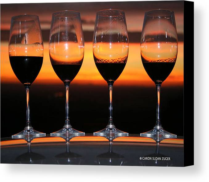 Photograph Canvas Print featuring the photograph Toast At Sunset Photograph by Caron Sloan Zuger
