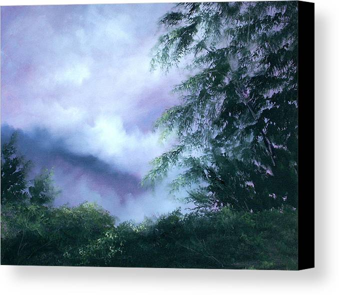 Fog Canvas Print featuring the painting Touch Of Blue by Sally Seago