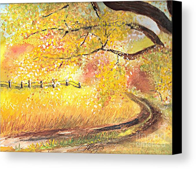 Landscape Canvas Print featuring the painting Walk About by Vivian Mosley