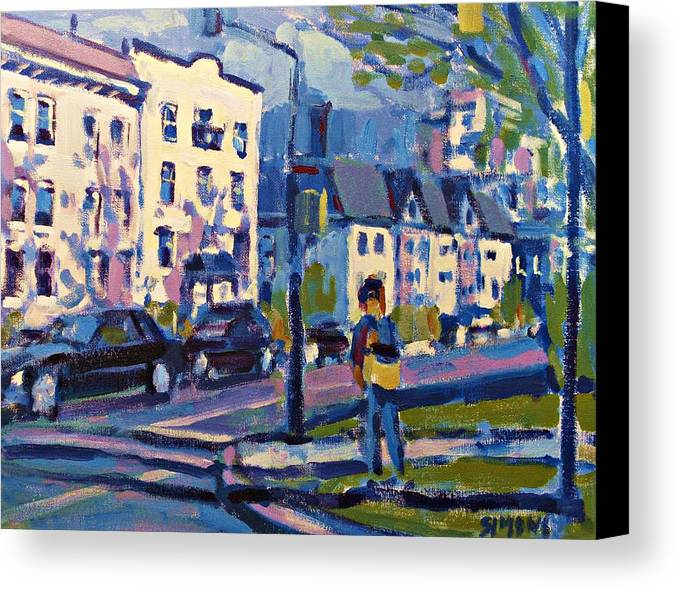 Landscape Paintings Canvas Print featuring the painting West 16th by Brian Simons