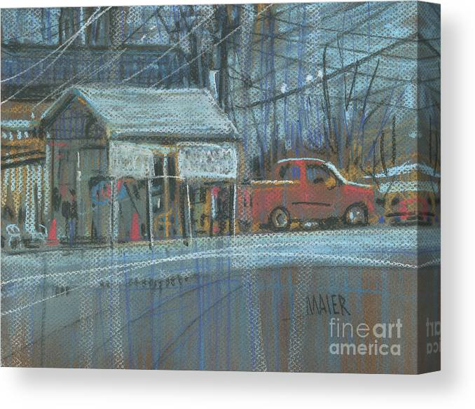 Emissions Canvas Print featuring the painting Emissions Testing by Donald Maier