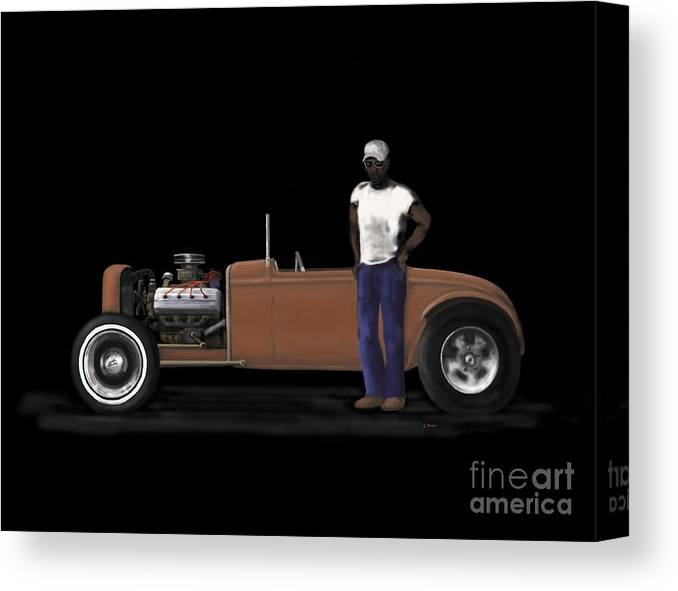 31 Ford Canvas Print featuring the painting 31 Ford Hot Rod by Steve Knapp