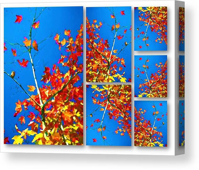 Arbre Eclat Canvas Print featuring the digital art Arbre Eclat by Prosper Abitbol