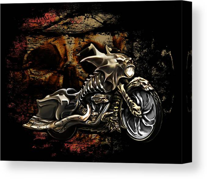 Bad Ass Bagger Canvas Print
