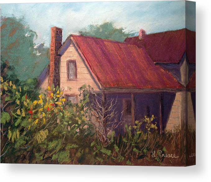 Landscape Canvas Print featuring the painting Forgotten by Linda Preece
