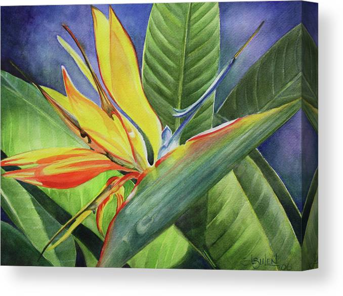 Bird Of Paradise Canvas Print featuring the painting Free Bird by Lorraine Ulen