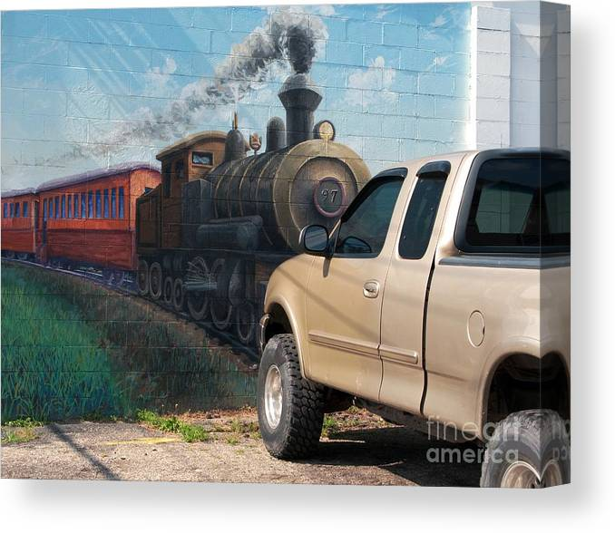 Steam Engine Canvas Print featuring the photograph Iron Horsepower by Ann Horn