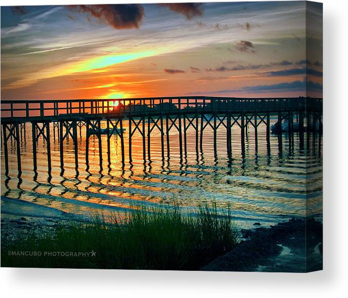 Sunrise Canvas Print featuring the photograph Pelican Point by Phil Mancuso