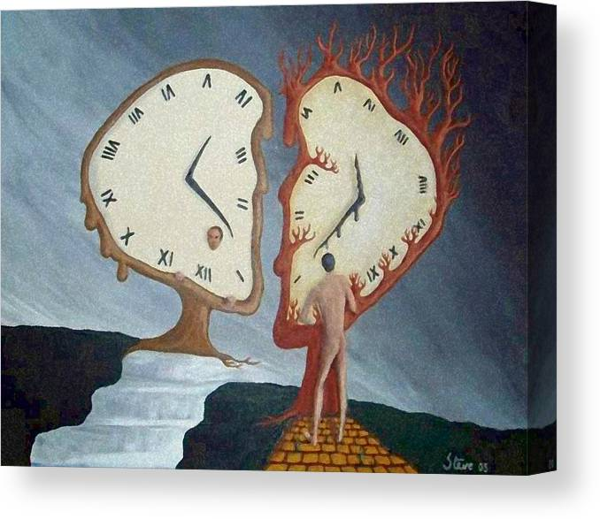 Time Canvas Print featuring the painting Time Travel by Steve Hester