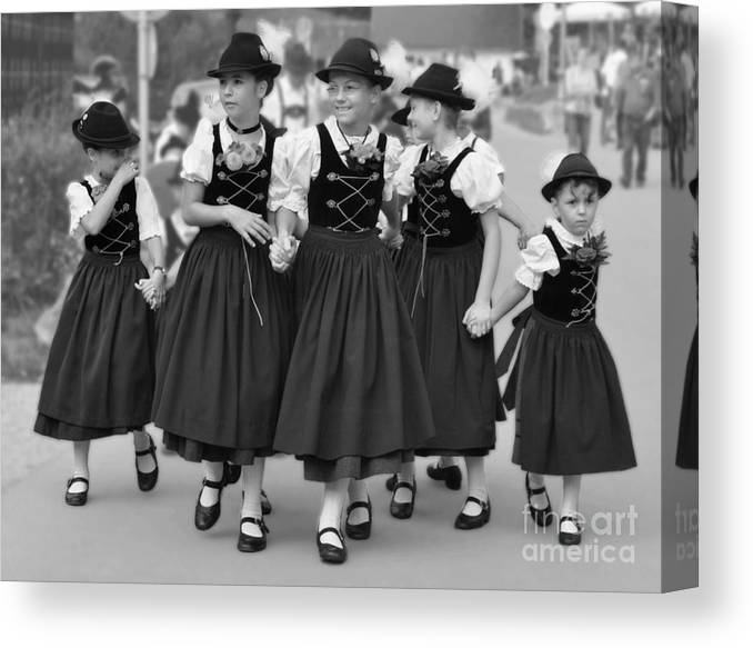 Bavarian Canvas Print featuring the photograph Bavarian Girls by Patricia Land