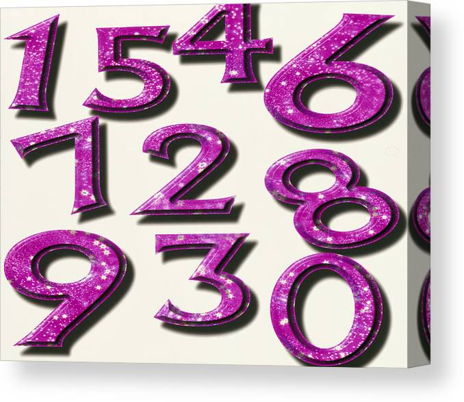 Computer Artwork Of Numbers 0-9 Used In Numerology Canvas Print
