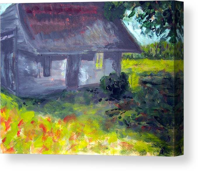 Country Canvas Print featuring the painting Pamlico County Shed by Rebecca Merola