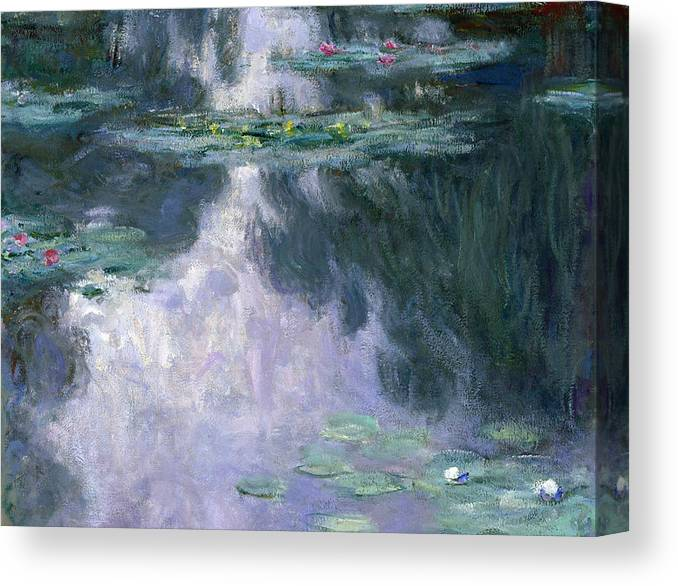 Nympheas Canvas Print featuring the painting Waterlilies 24 by Claude Monet