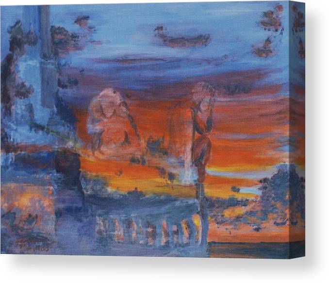 Abstract Canvas Print featuring the painting A Mystery Of Gods by Steve Karol