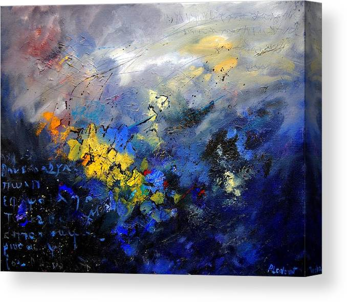 Abstract Canvas Print featuring the painting Abstract 970208 by Pol Ledent